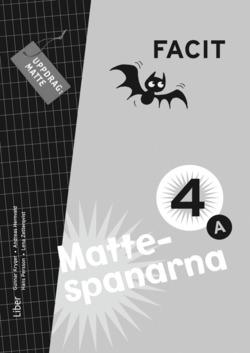Mattespanarna 4A Facit av Gunnar Kryger