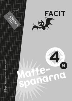 Mattespanarna 4B Facit av Gunnar Kryger