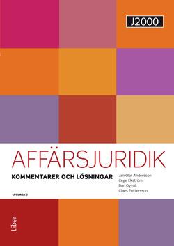 J2000 Affärsjuridik, Kommentarer och lösningar av Jan-Olof Andersson